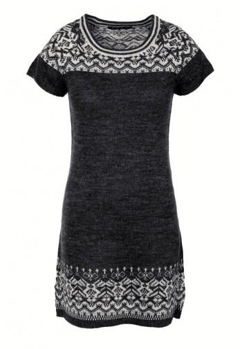 Sukienka Żakardowa czarny