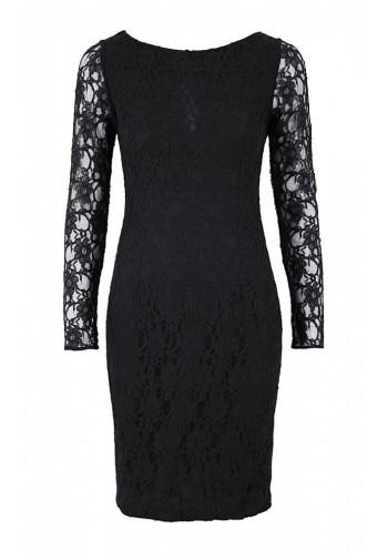 Sukienka Daphne koronka czarny
