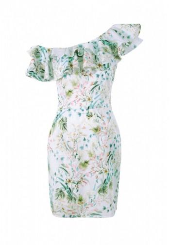 Sukienka Trudy kwiatki zielony