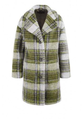 Płaszcz Barbra khaki-popielaty