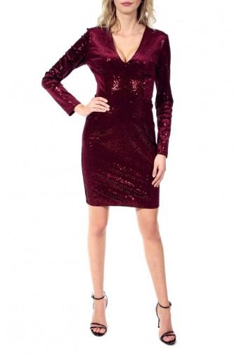 Sukienka Madelaine burgundowy