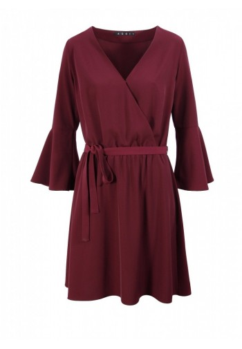 Sukienka Marieta burgundowy