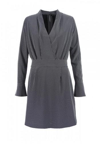 Sukienka Violet czarno-biały