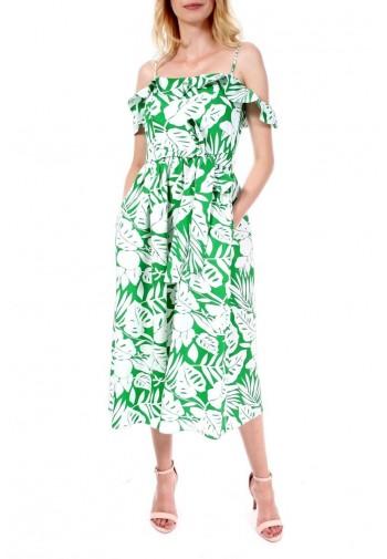 Sukienka Emily biało-zielony