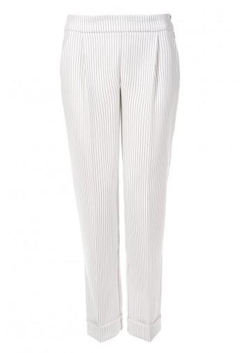 Spodnie Manea prążek biały...