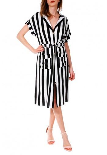 Sukienka Calista czarno-biały