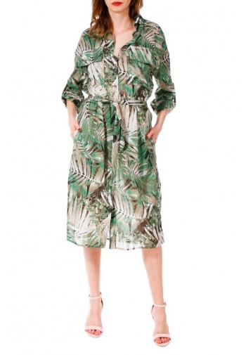 Sukienka Feride beżowo-zielony
