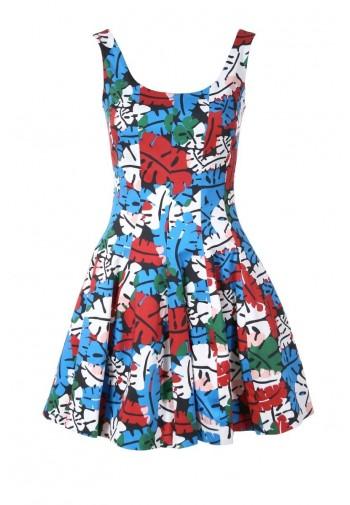 Sukienka Consolata liście...