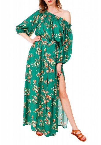 Sukienka Jill kwiaty zielony