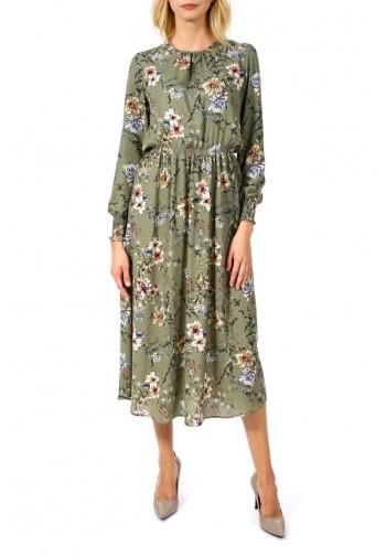 Sukienka Liliana midi khaki