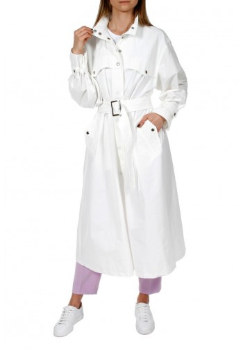 Trench-coat Vanda white milk