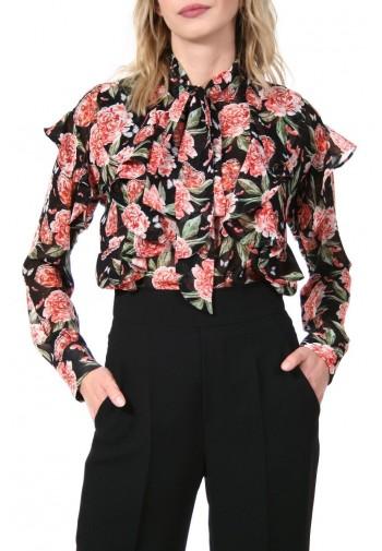 Bluzka Beryl czarno-czerwony