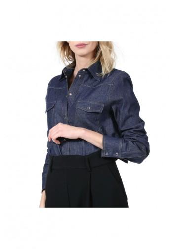 Bluzka jeansowa Enid granatowy
