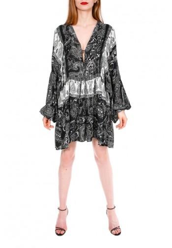 Sukienka Eunika czarno-biały