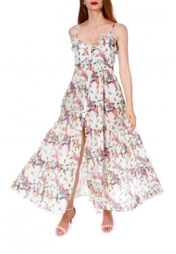 Sukienka Chelo kremowy
