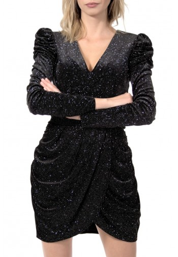 Sukienka Sandra czarno-srebrny