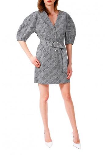 Sukienka Natali czarno-biały