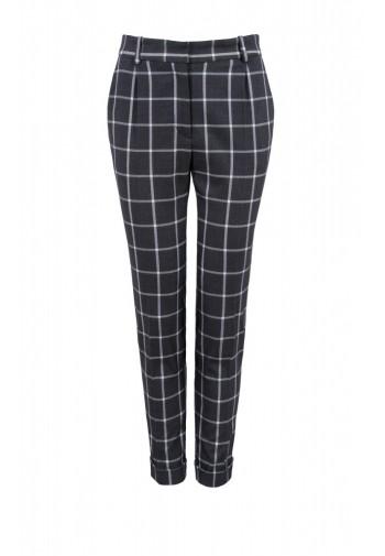 Pants Zita with gray check
