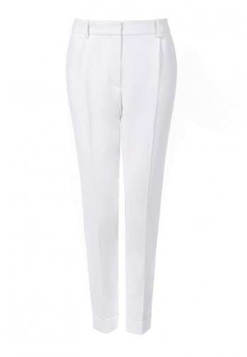 Pants Zita with cuff white...