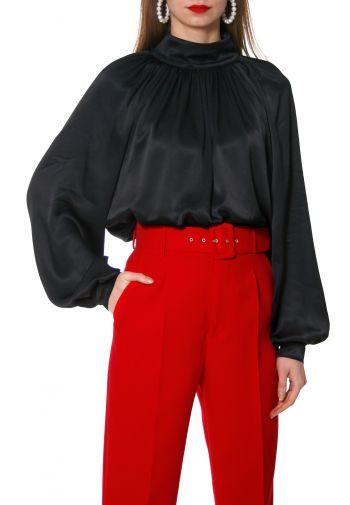 Blouse Maurycja Glossy Black