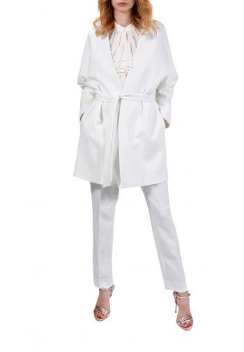 Płaszcz Auri biały mleczny