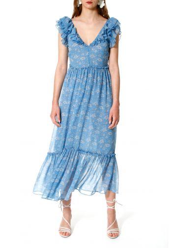 Dress Giovanna niebiesko-biały
