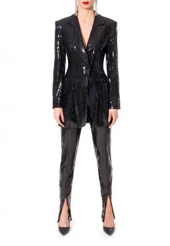 Sequin Blazer Carla Black Onyx