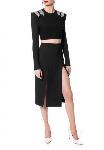 Skirt Salma Perle Noir