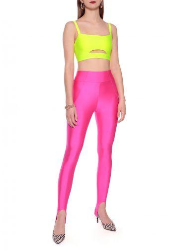 Spodnie Gia Plastic Pink