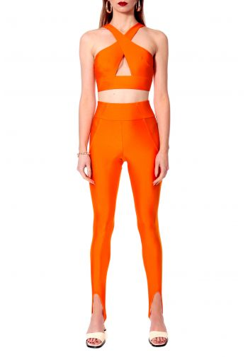 Top Isla Neon Orange