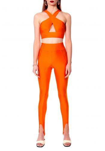 Top Isla Neon Orange