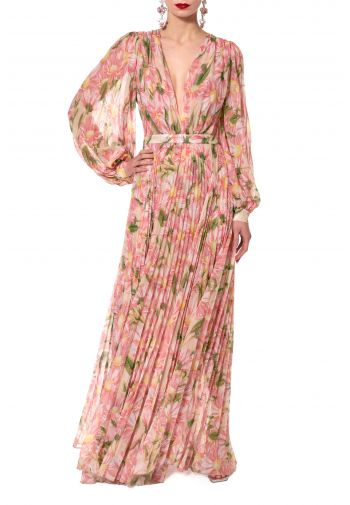 Esme Swirling Pink pleated...