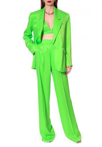 Trousers Jessie Satin Green...