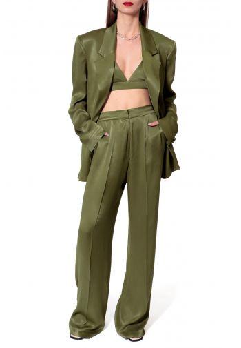 Trousers Jessie Satin Olive...