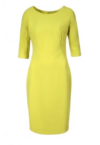 Sukienka Analisa limonkowy